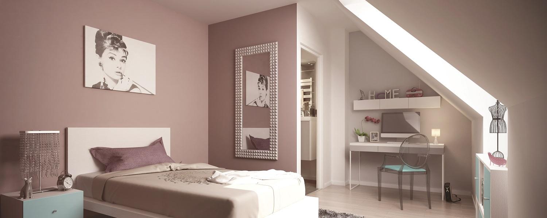 Amenager une chambre dans les combles photos de - Amenager une chambre dans les combles ...